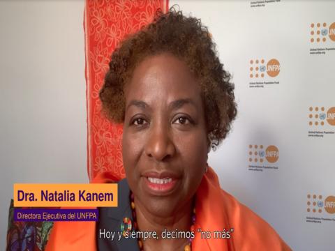 Mensaje de la Directora Ejecutiva del UNFPA, Dra. Natalia Kanem con Motivo del Día Internacional de la Eliminación de la Violencia contra la Mujer.